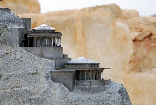 Replica of Herod's palace atop Masada
