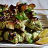 Lemon-Parsley Grilled Chicken Kebab Skewers