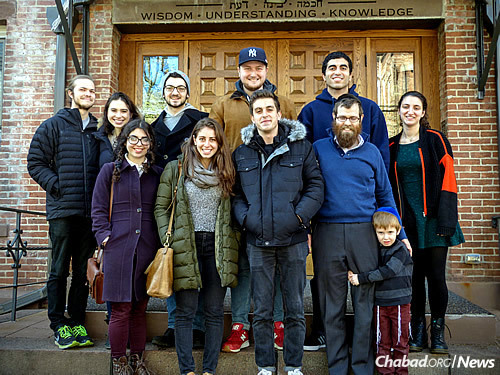 Some of the Sinai Scholars, with the rabbi and his oldest son