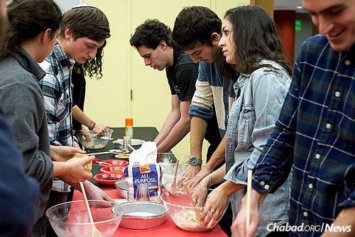 Baking challah on campus