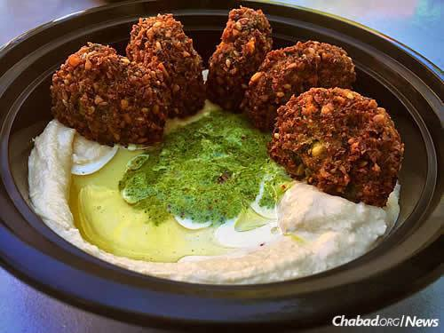 Falafel, hummus and Israeli salad are some of the top sellers.