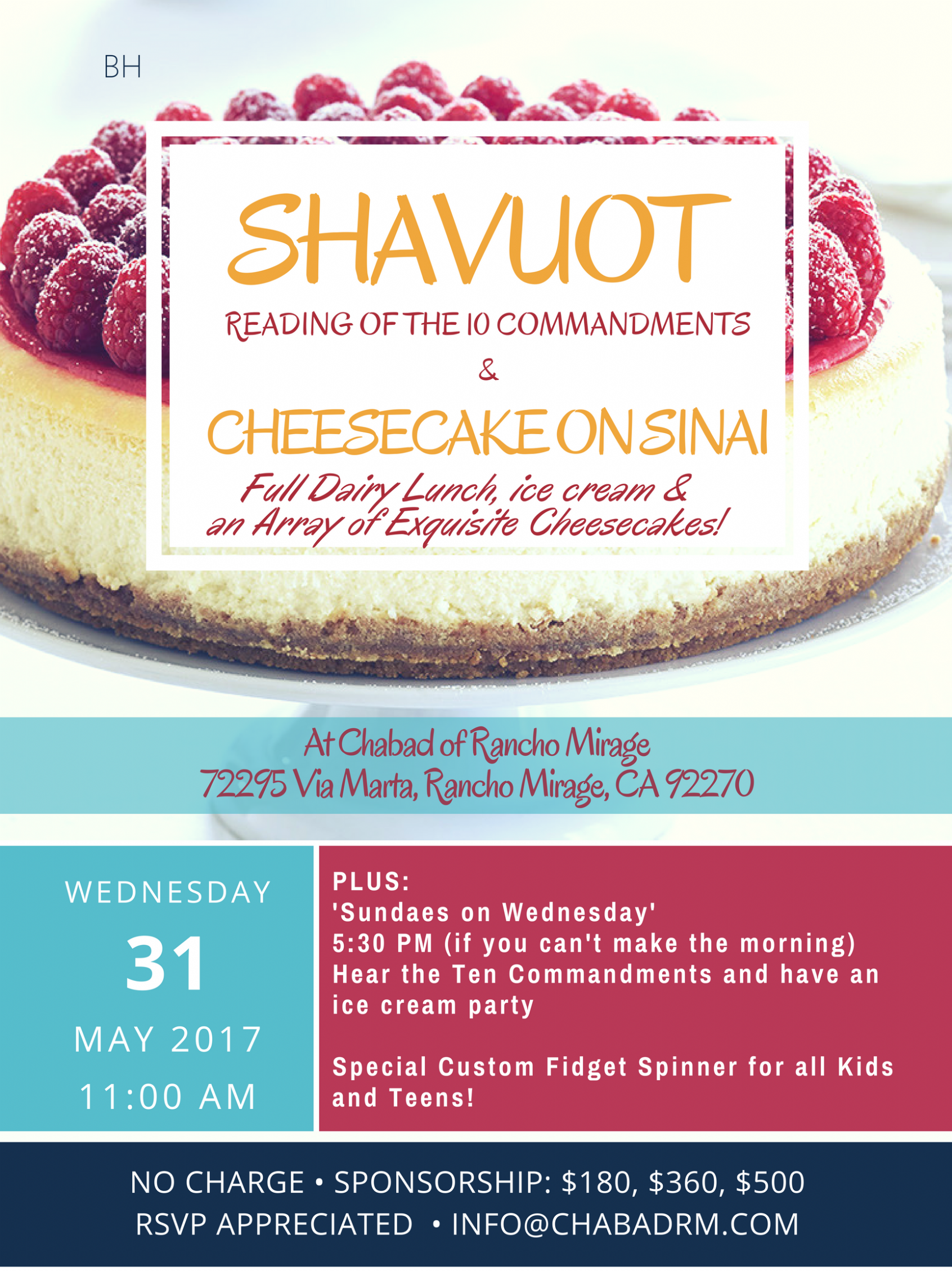 Shavuot 5777 - poster - ChabadRM.png