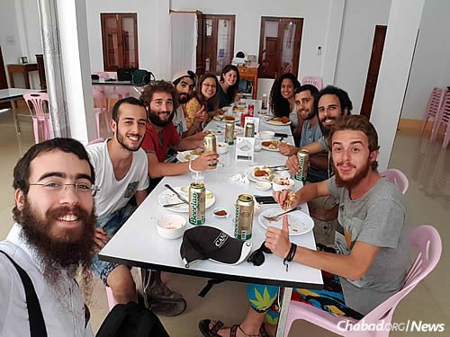 The affordable, Israeli-style cuisine at Chabad's restaurant has already proven popular.