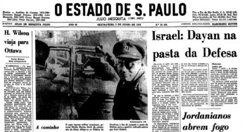 Jornal O Estado de S. Paulo, 2 de junho de 1967. Reprodução.