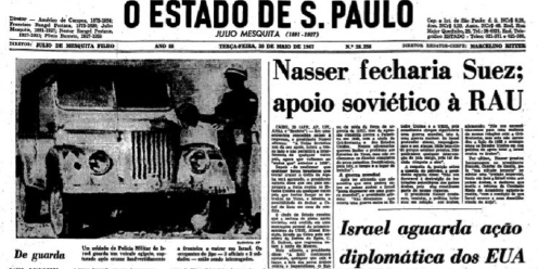 Jornal O Estado de S. Paulo, 30 de maio de 1967. Reprodução.