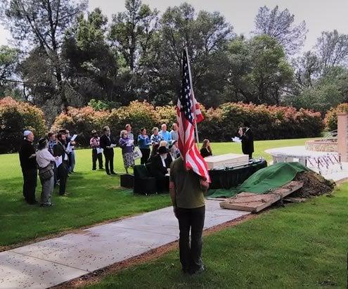 Elliot's funeral service.