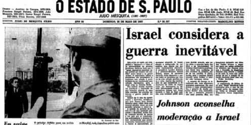 Jornal O Estado de S. Paulo, 28 de maio de 1967. Reprodução.