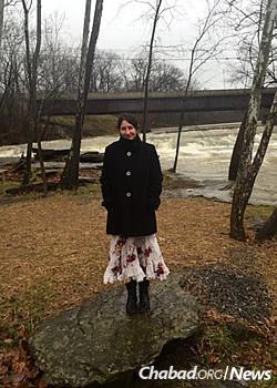The author, Rachel Millstone, as a girl