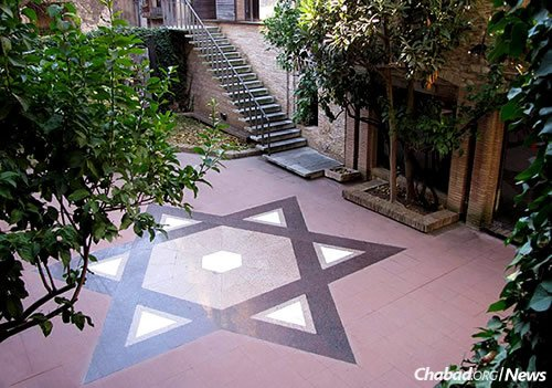The renovated courtyard of Ramban synagogue, named for the Torah commentator born in the city, is again a functioning house of prayer and a Jewish museum.