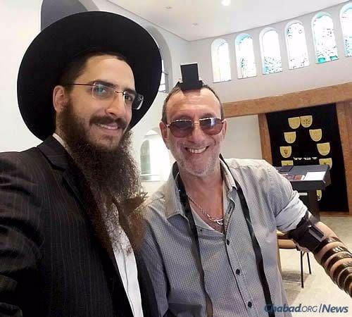 Com Rabino Levi Yitschac Slonim, do Beit Chabad de Perdizes/Sumaré