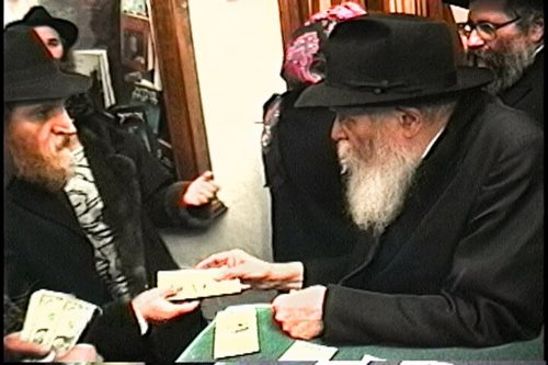 Yosef Schoukroun with the Rebbe in the winter of 1992 (JEM The Living Archive).