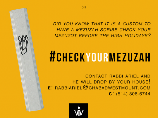 check your mezuzah