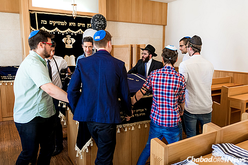 No simcha is complete without dancing. (Photo: Jewish Heritage Center)