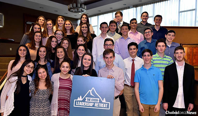 A group of 200 teens and Chabad-Lubavitch emissaries recently participated  in a long weekend