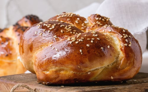 Round challah is a traditional Rosh Hashanah treat.