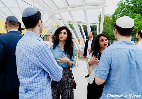 Meeting other members of the community via Chabad Young Professionals of Brooklyn. (Photo: Avraham Edery)