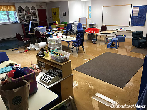Toys, books, furniture, carpeting and the floors of the preschool need to be replaced.