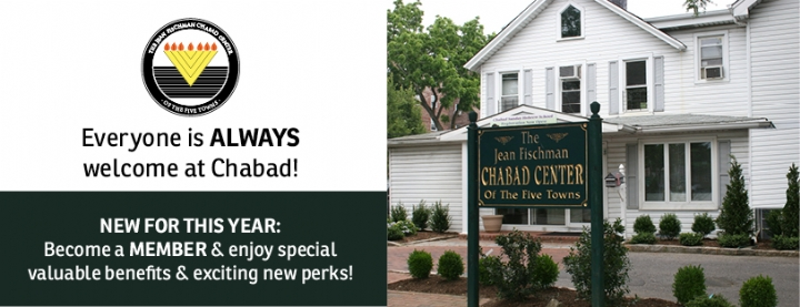 Chabad of the Five Towns | Membership - Join our Family today!