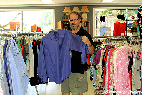 Len Weinstein browses through the wide variety of items at ZABS Place.