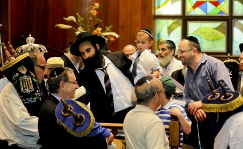 Photo: Melanie Boisvert (none of the photos were taken on Simchat Torah)