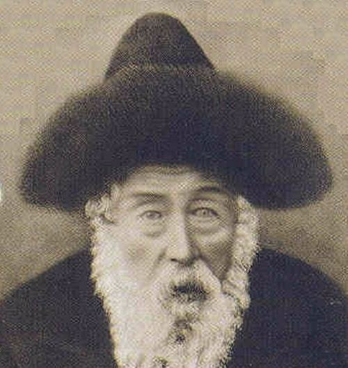 The second Rebbe of Shtefanesht (1862-1933) wearing a shtreimel. Note the cone-shaped center, unique to the rebbes of the Ruzhin tradition.