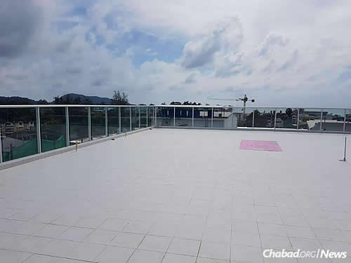 The open rooftop, high above Phuket, will be used for weddings, a communal sukkah and other special events.