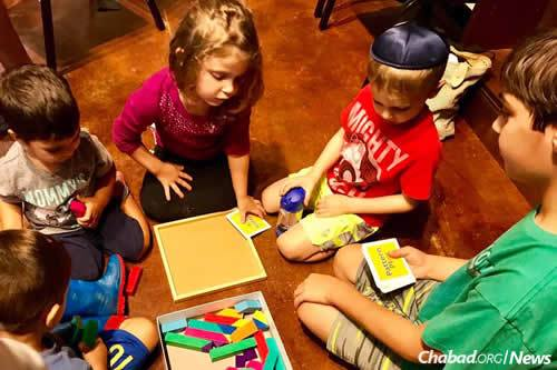 For more than two hours, the kids enjoyed playing, reading and making crafts.