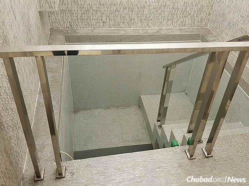 The new facility includes a luxurious mikvah.