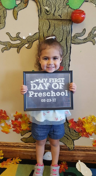 First Day at Preschool 2017/18