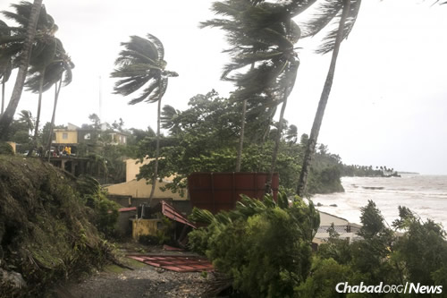 Less than 48 hours later, the Dominican Republic was lashed by winds from Irma.
