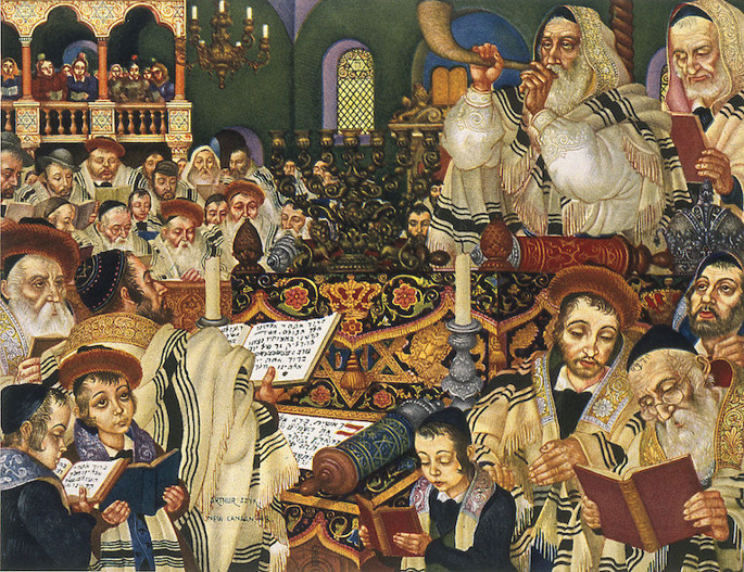 Rosh Hashanah Prayer by Arthur Szyk