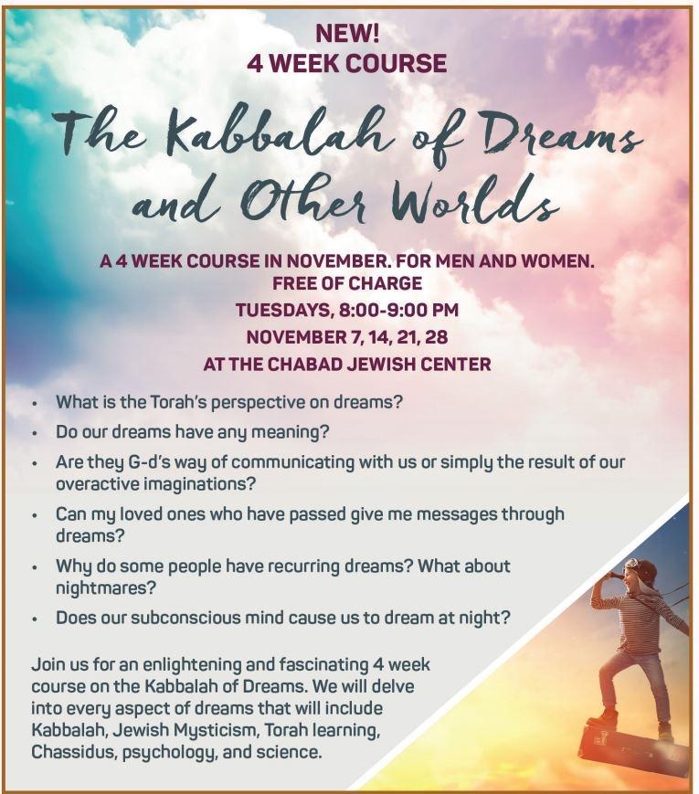 Kabbalah of Dreams - 4 week course - Chabad of Moorpark
