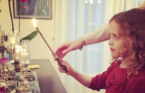 Chaya Simons lighting candles