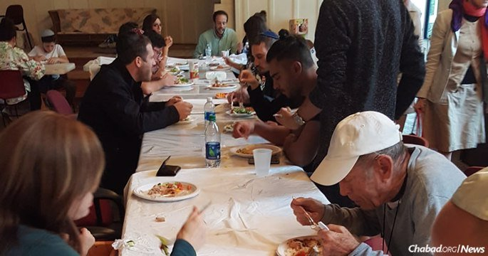 Some 100 Chabad Houses across Florida have opened their doors to neighbors, community members and others in need, serving fresh kosher meals to those without power and, in some cases, their homes. (Photo: Chabad Lubavitch of the Panhandle in Tallahassee, Fla.)