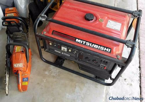 The Lipskars also have a chainsaw to tackle any fallen branches.