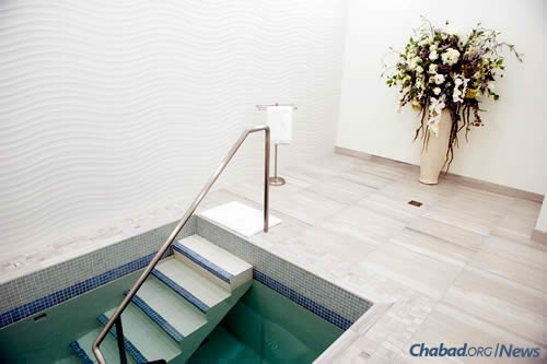 A beautiful new mikvah for the community