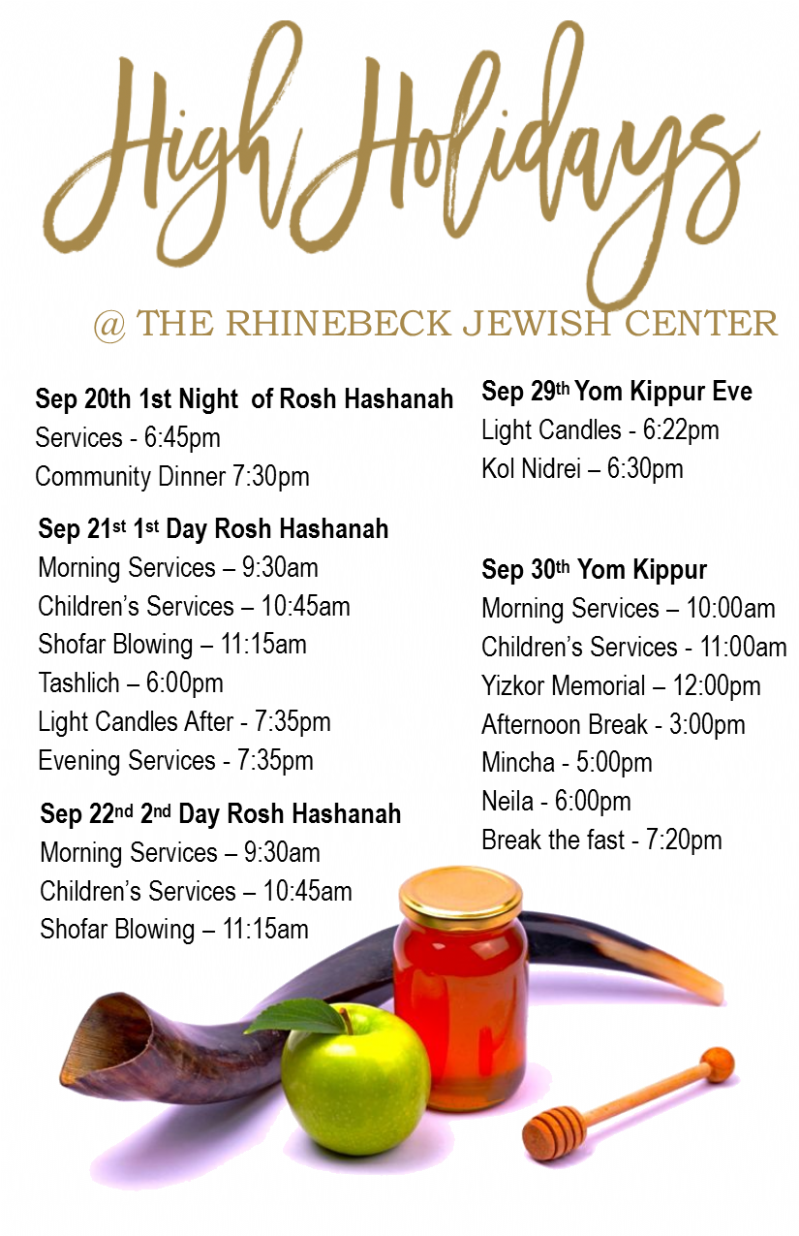 graphic regarding Printable Tashlich Prayer referred to as HH timetable 2017 - Chabad Dutchess The Rhinebeck Jewish Middle