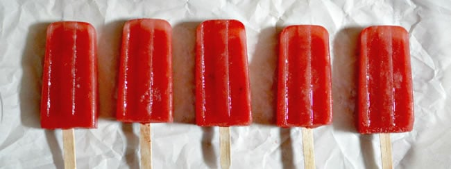 Ice Cream, Mousse & Frozen Treats: Strawberry-Watermelon Popsicles