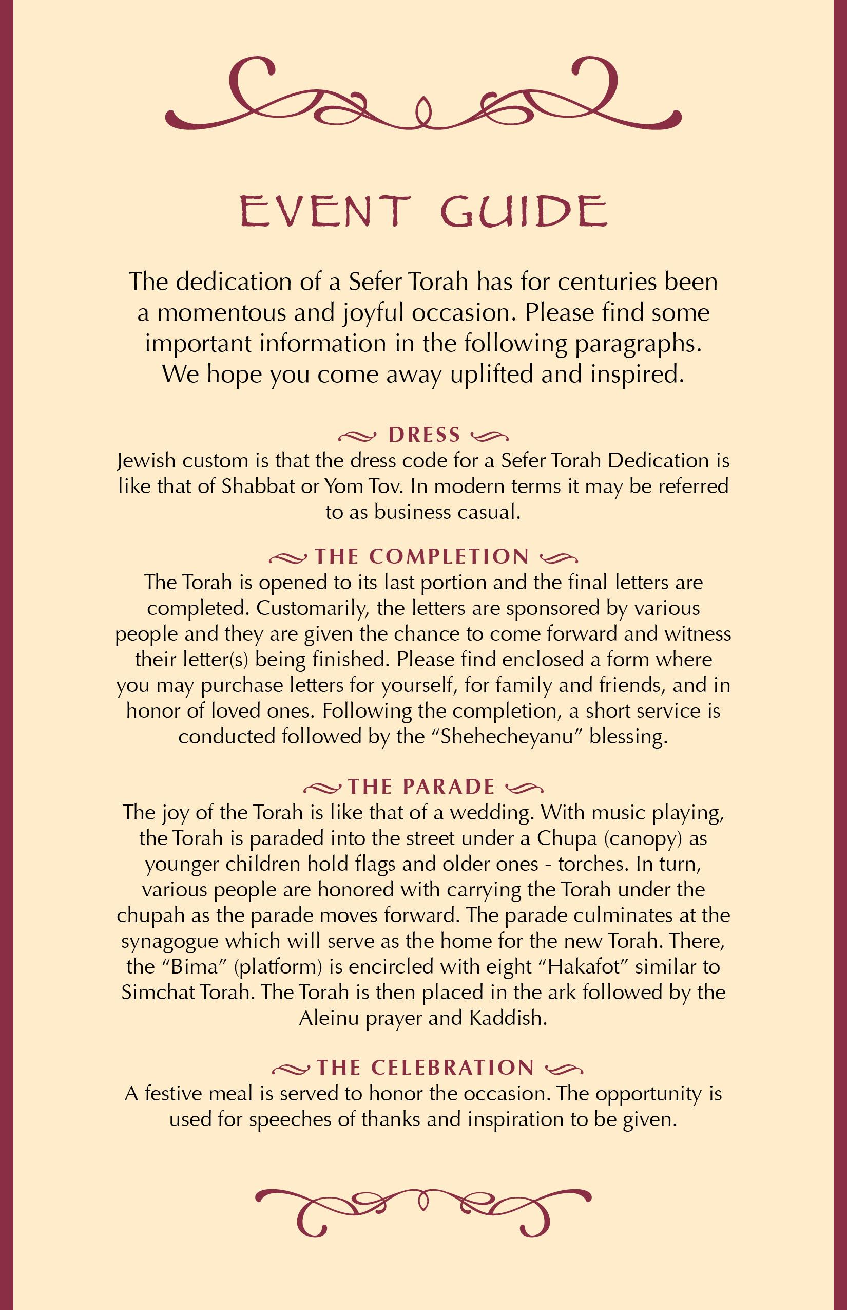 Torah event guide