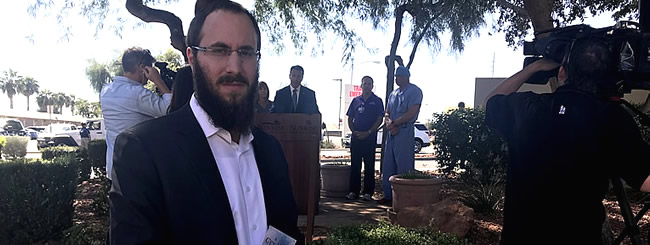 October 2017: Las Vegas Rabbi Helps Nevada Governor With Prayer