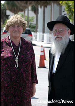 The Korfs' work in Florida changed the face of Jewish iife there (photo taken in 2010).