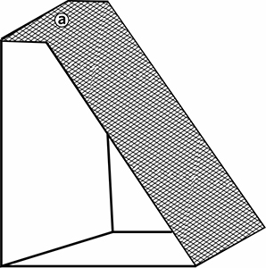 Fig. 27: A slanted shelter — (a) the roof a handbreadth wide