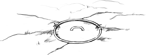 Fig. 21: A cistern whose door is tied with a rope