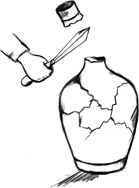 Fig. 20: Severing the neck of such a barrel