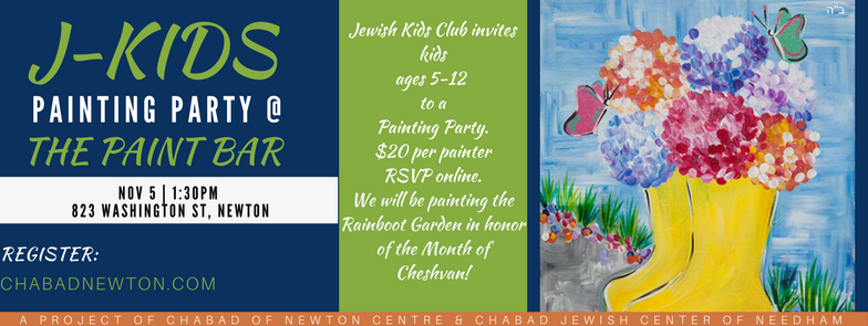J-Kids Painting Party - Chabad of Newton Centre