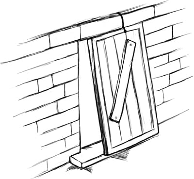 Fig. 16: A door placed at an entrance with a threshold