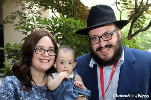 Rabbi Avi and Tzippy Goldstein, co-directors of Chabad of the University of Rhode Island in Kingston, R.I.