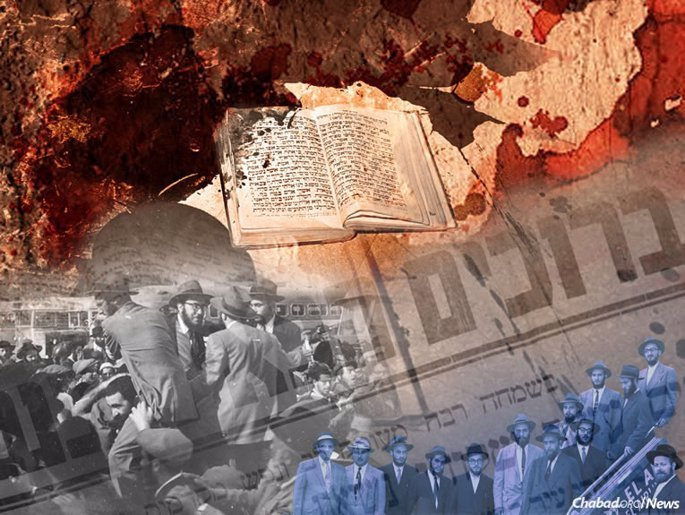 When Arab terrorists killed five students and their teacher in 1956 in the midst of prayer at a vocational school in Kfar Chabad, Israel, some wondered whether it was time to abandon the fledgling village. The Rebbe responded by sending 12 yeshivah students as his personal representatives there, and by encouraging the Chassidic villagers to continue building and growing. (Illustration by Rivka Graphic Design)