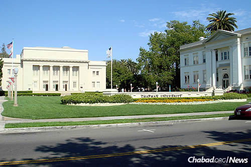 Rabbi Eliezer and Mushky Gurary co-direct Chabad of Chapman University in Orange, Calif. (Photo: Wikimedia Commons/Bobak Ha'Eri)