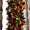 Warm Fall Salad: Black Rice with Sweet Potato, Parsley, & Pomegranate